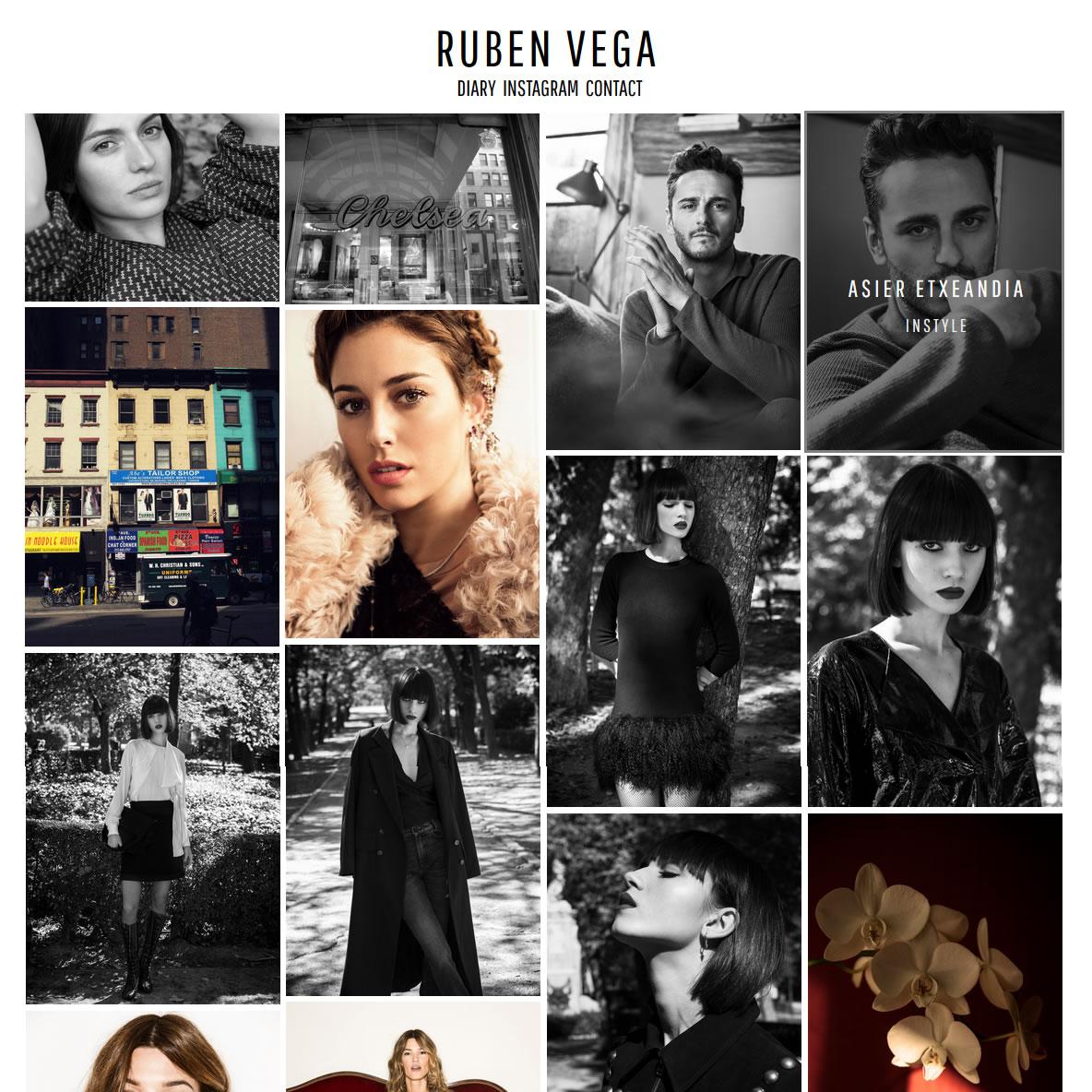 La nueva web de Rubén Vega
