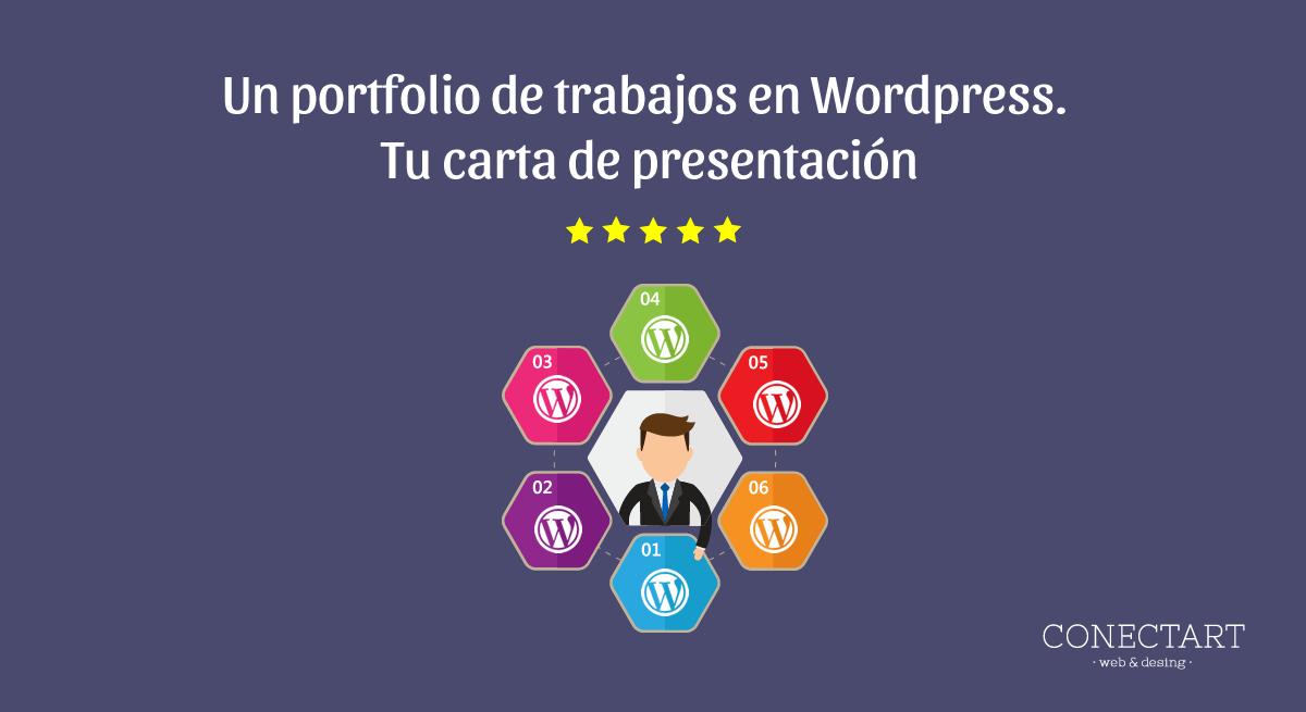 un portfolio de trabajos en Wordpress